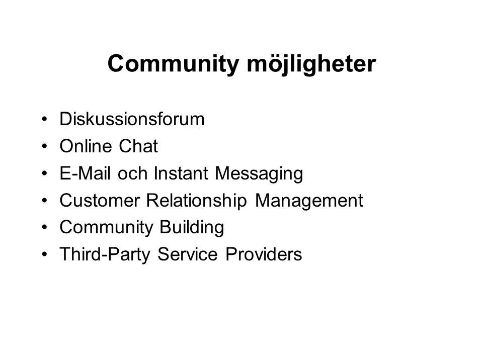 Community möjligheter