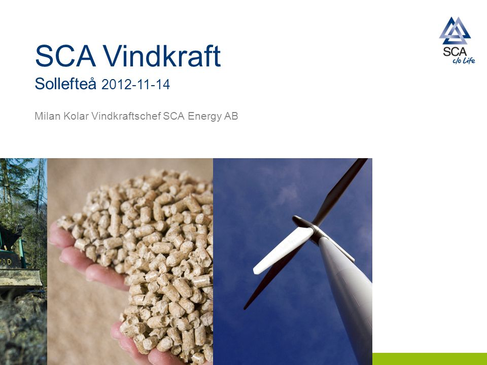 SCA Vindkraft Sollefteå 2012-11-14 Milan Kolar Vindkraftschef SCA Energy AB