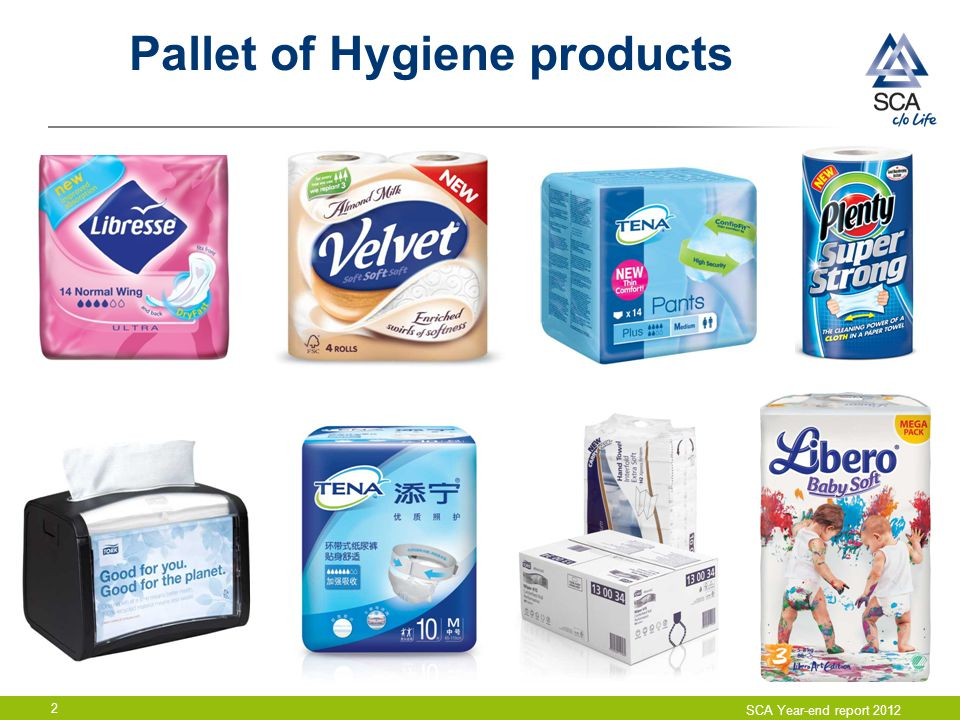 Pallet of Hygiene products
