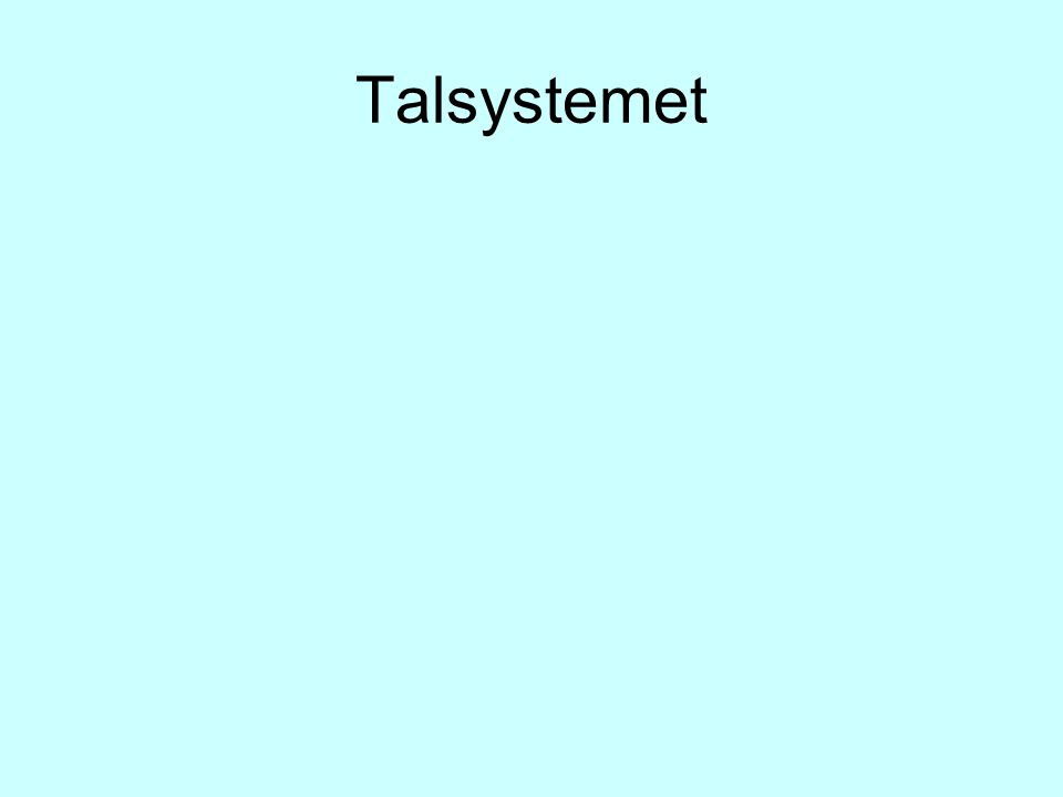 Talsystemet