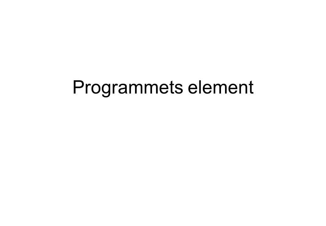 Programmets element