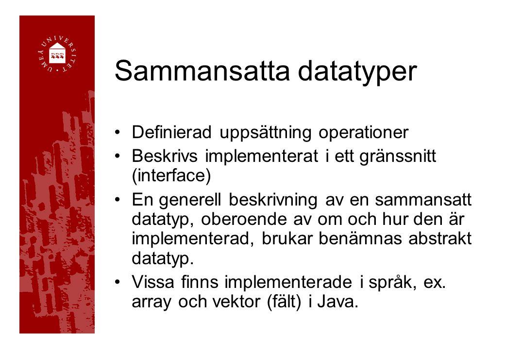Sammansatta datatyper
