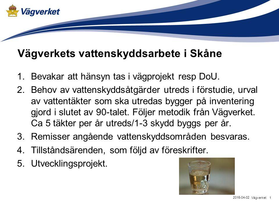 Vägverkets vattenskyddsarbete i Skåne