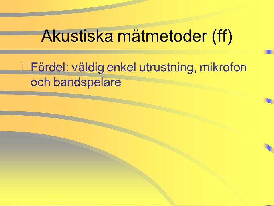 Akustiska mätmetoder (ff)
