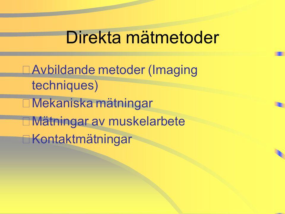 Direkta mätmetoder Avbildande metoder (Imaging techniques)
