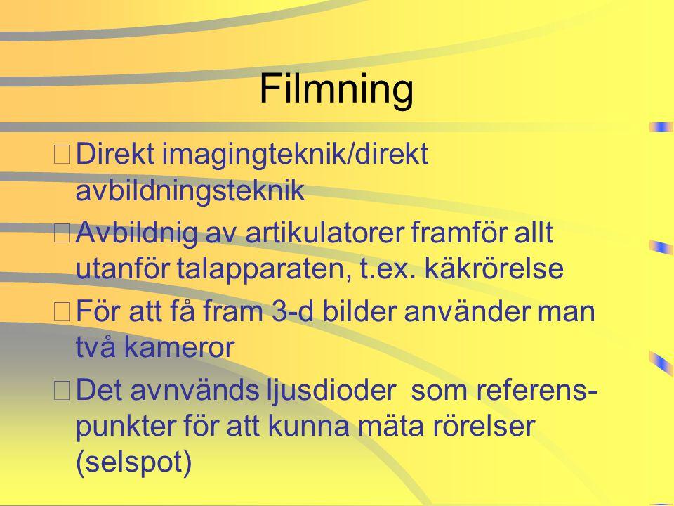 Filmning Direkt imagingteknik/direkt avbildningsteknik