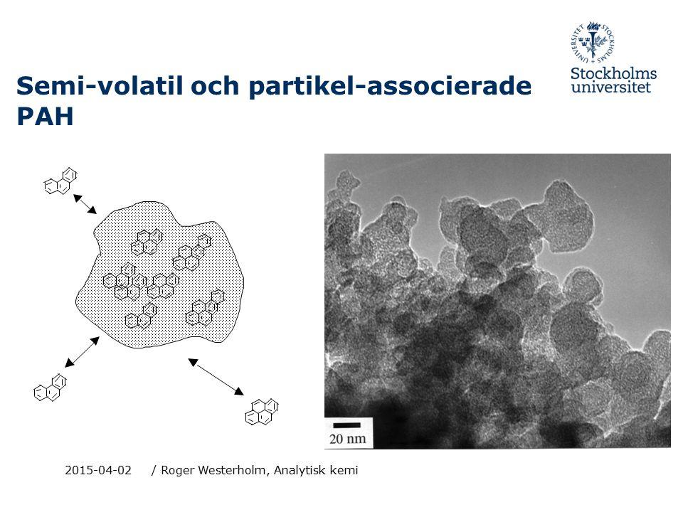 Semi-volatil och partikel-associerade PAH