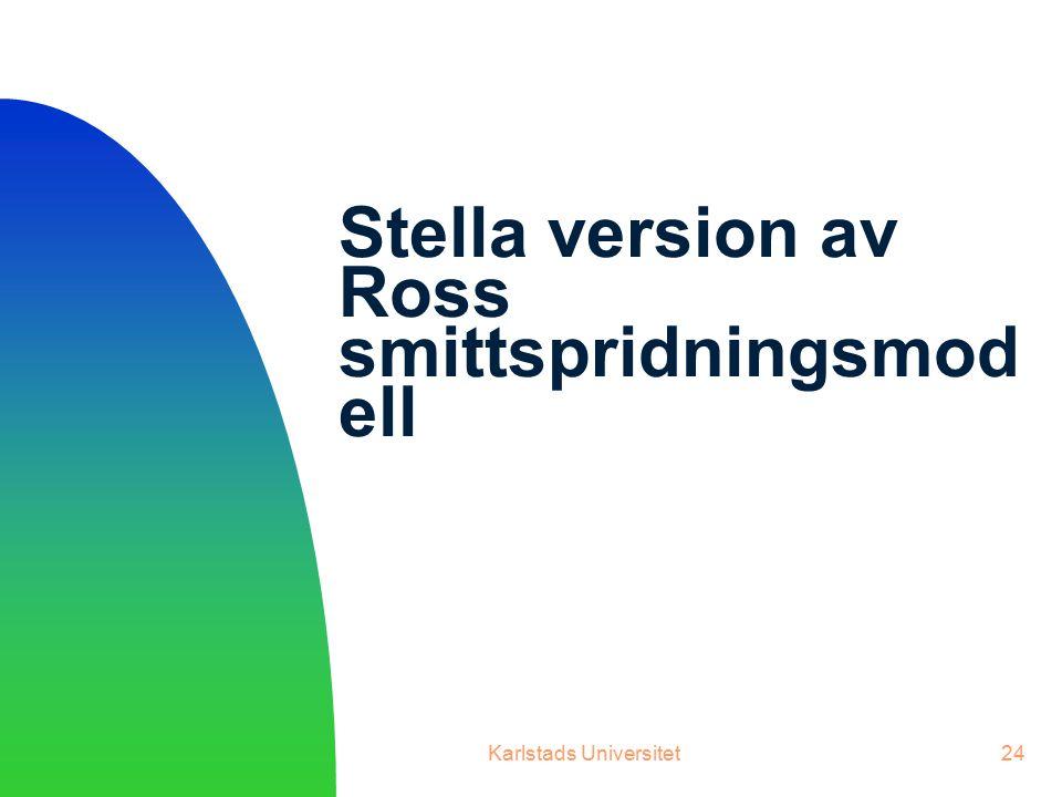 Stella version av Ross smittspridningsmodell