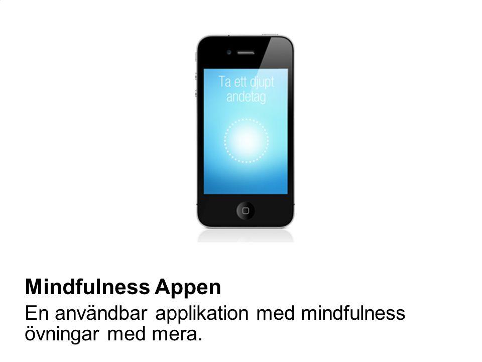 En användbar applikation med mindfulness övningar med mera.