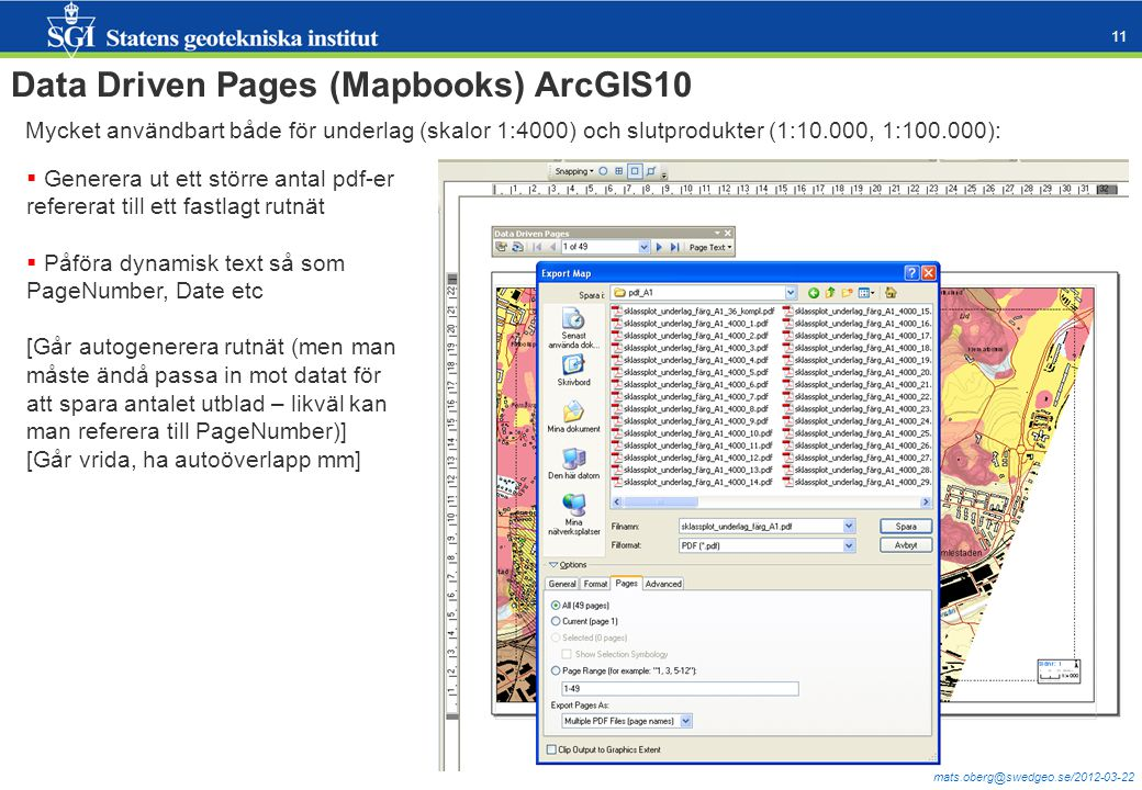Data Driven Pages (Mapbooks) ArcGIS10