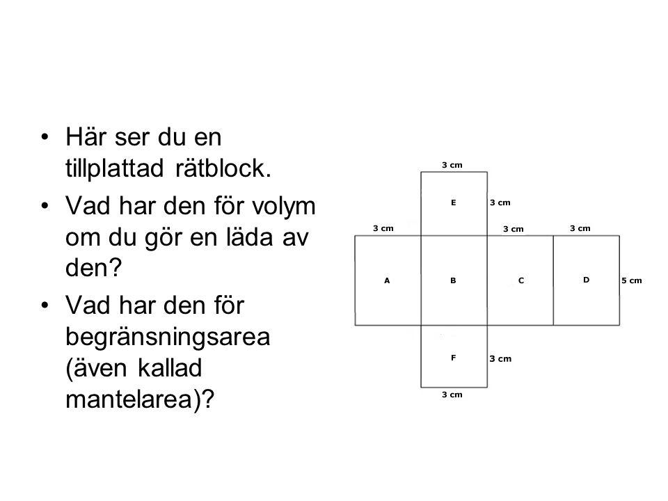 Här ser du en tillplattad rätblock.