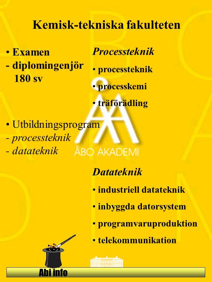 Kemisk-tekniska fakulteten