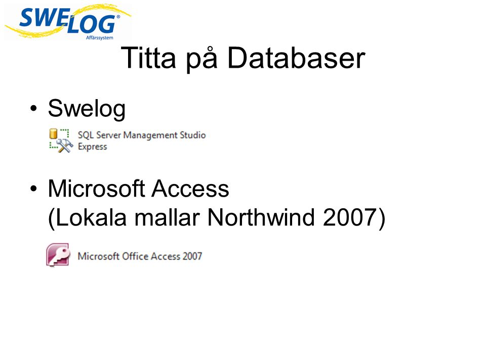 Titta på Databaser Swelog