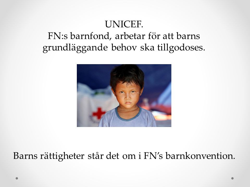 Barns rättigheter står det om i FN's barnkonvention.