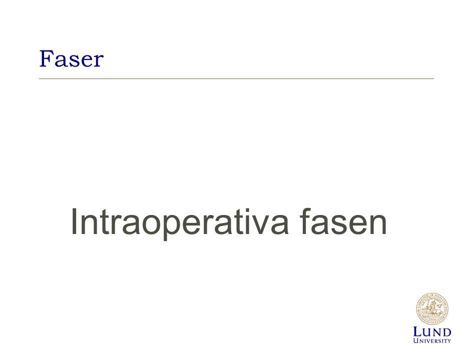 Faser Intraoperativa fasen