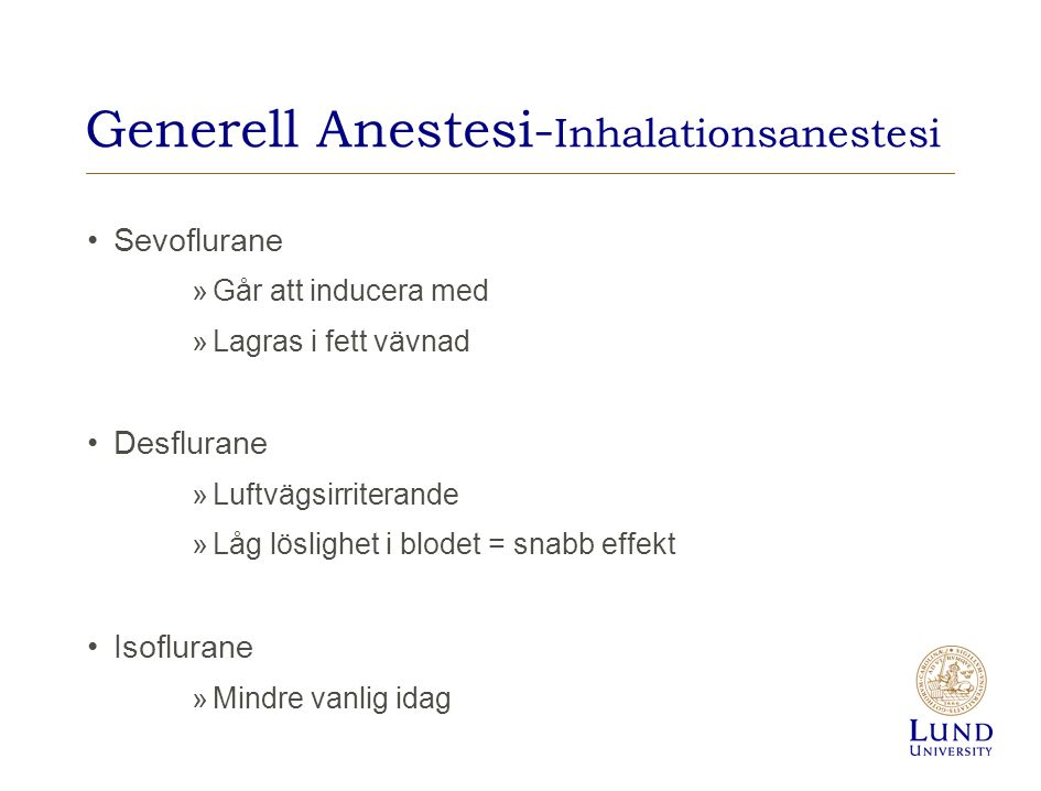 Generell Anestesi-Inhalationsanestesi