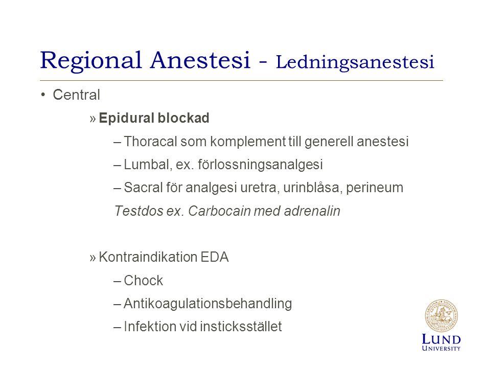 Regional Anestesi - Ledningsanestesi