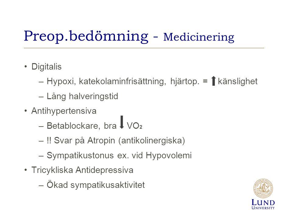 Preop.bedömning - Medicinering