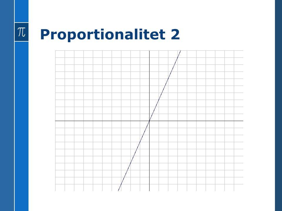 Proportionalitet 2