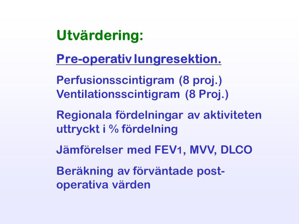 Utvärdering: Pre-operativ lungresektion.