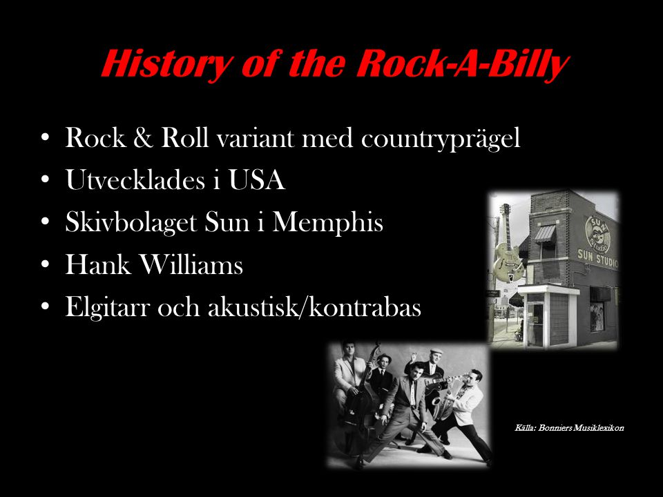 History of the Rock-A-Billy