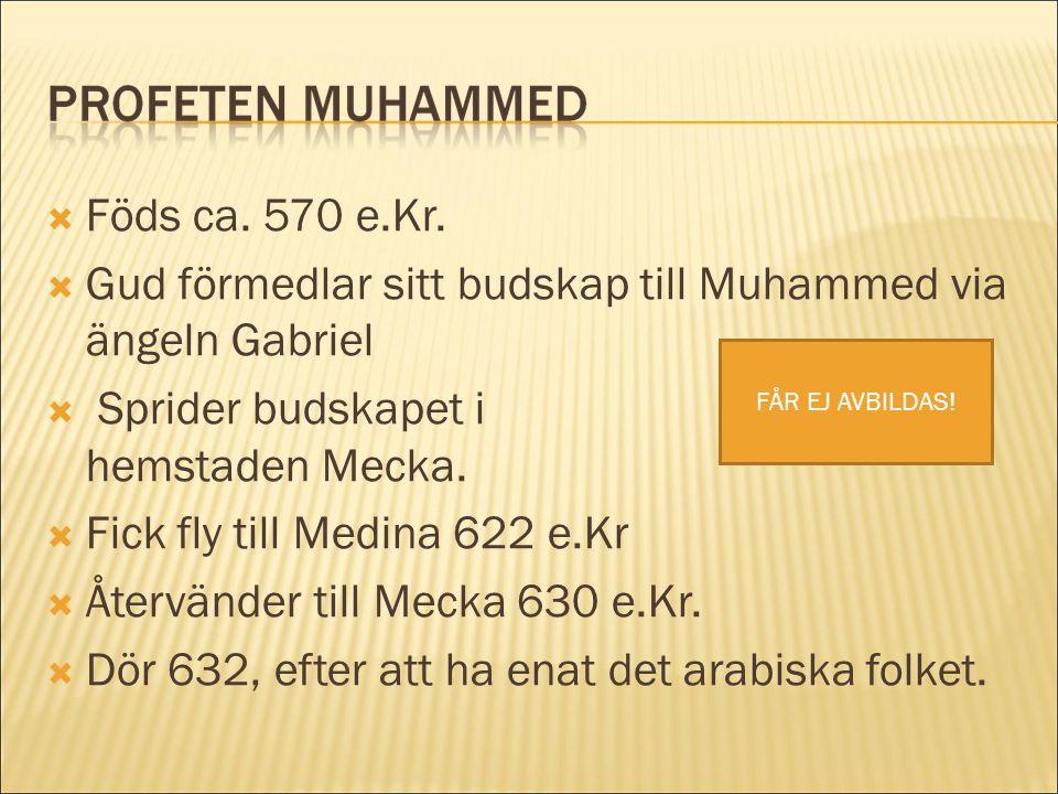 Gud förmedlar sitt budskap till Muhammed via ängeln Gabriel