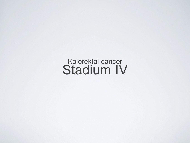 Stadium IV Kolorektal cancer