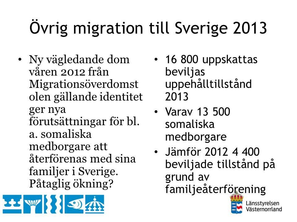 Övrig migration till Sverige 2013