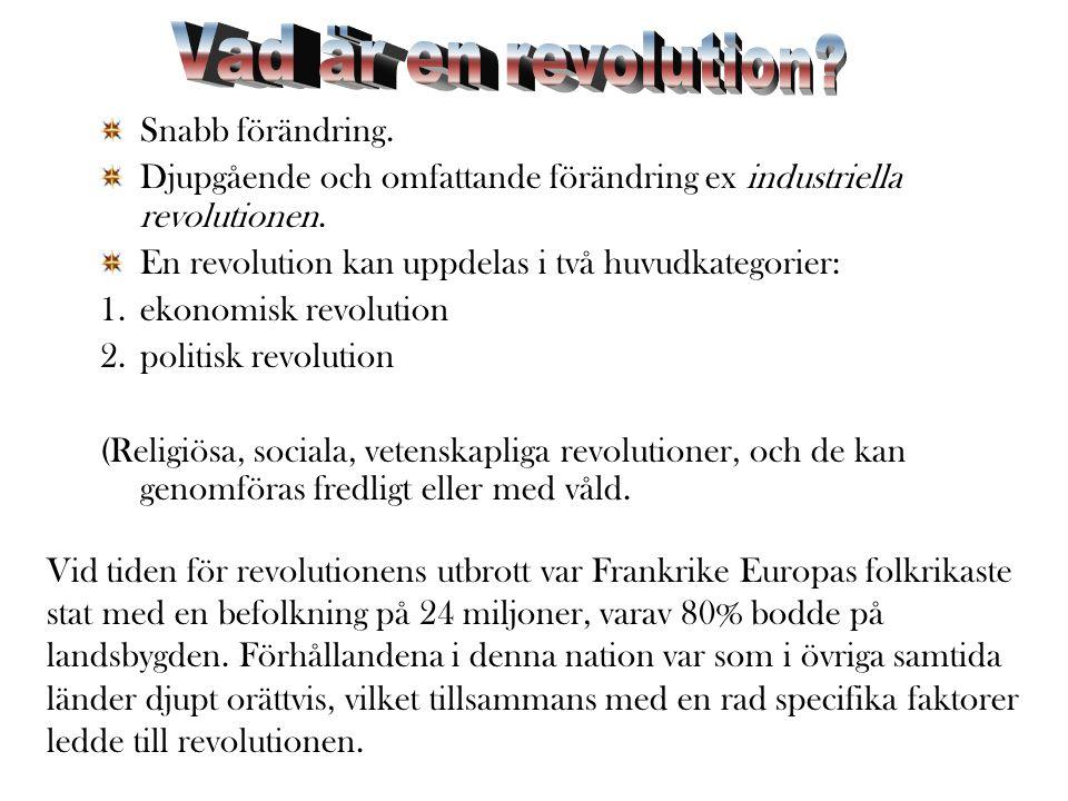 Vad är en revolution Snabb förändring.