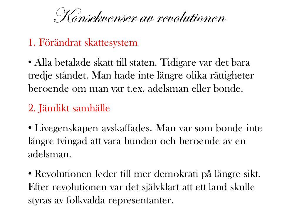 Konsekvenser av revolutionen