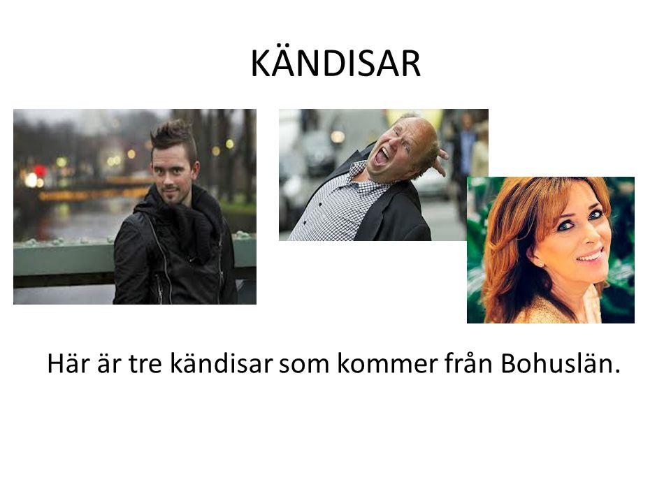 KÄNDISAR Här är tre kändisar som kommer från Bohuslän.