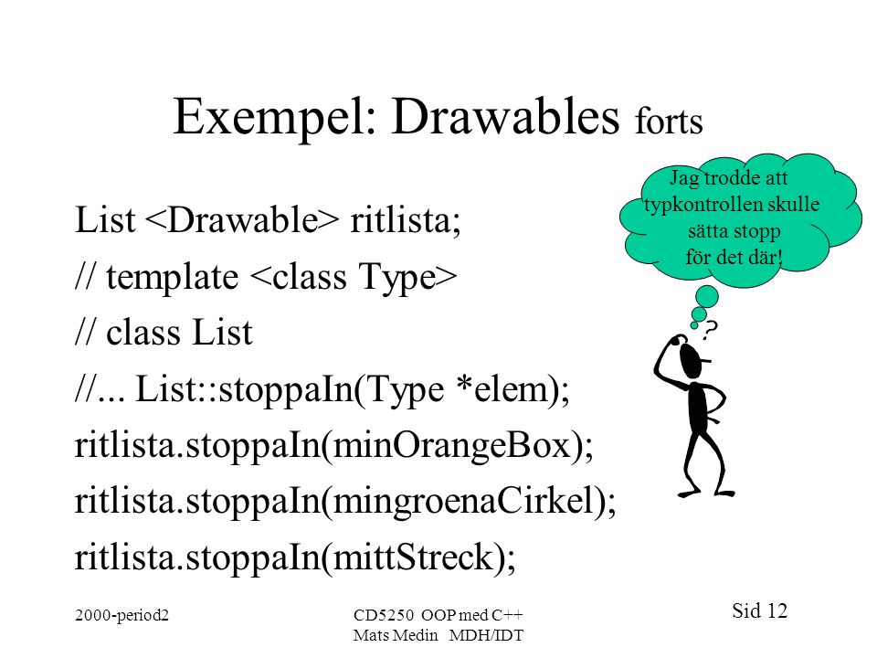 Exempel: Drawables forts