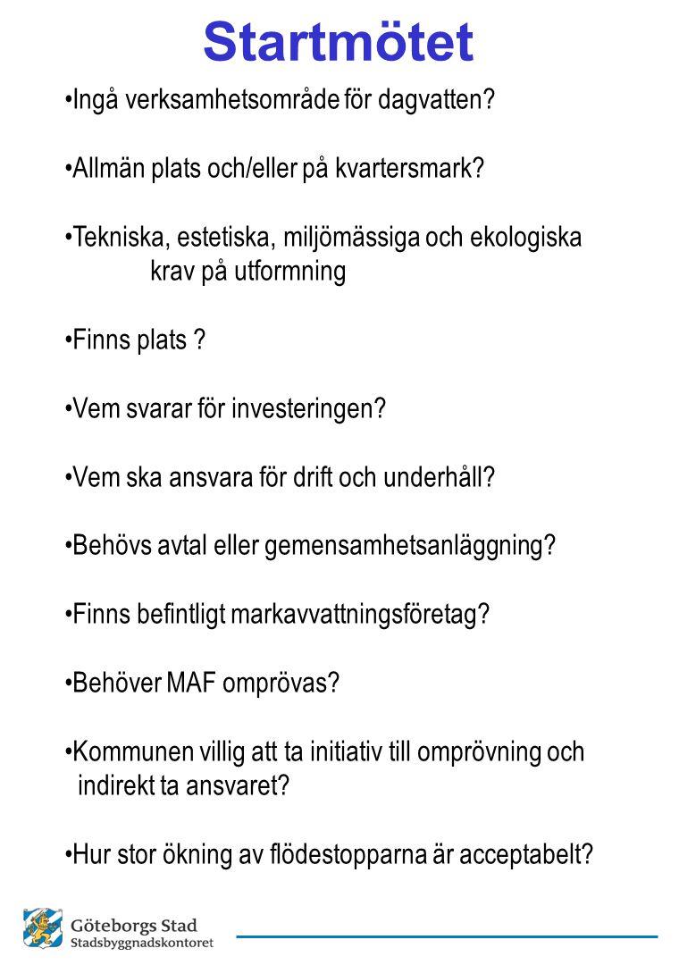 Startmötet Ingå verksamhetsområde för dagvatten