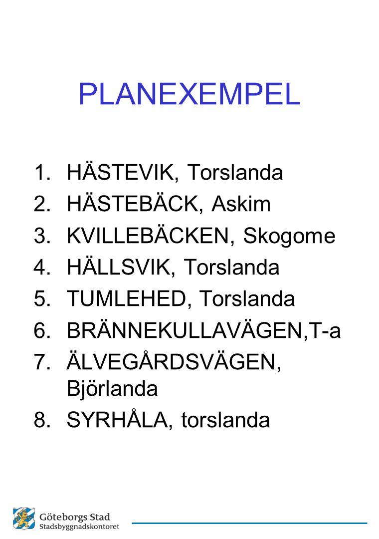 PLANEXEMPEL HÄSTEVIK, Torslanda HÄSTEBÄCK, Askim KVILLEBÄCKEN, Skogome