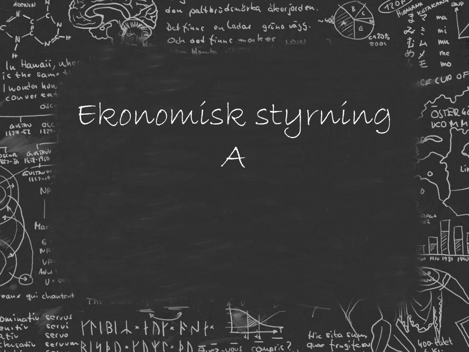 Ekonomisk styrning A