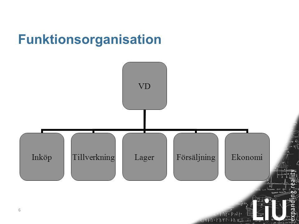 Funktionsorganisation