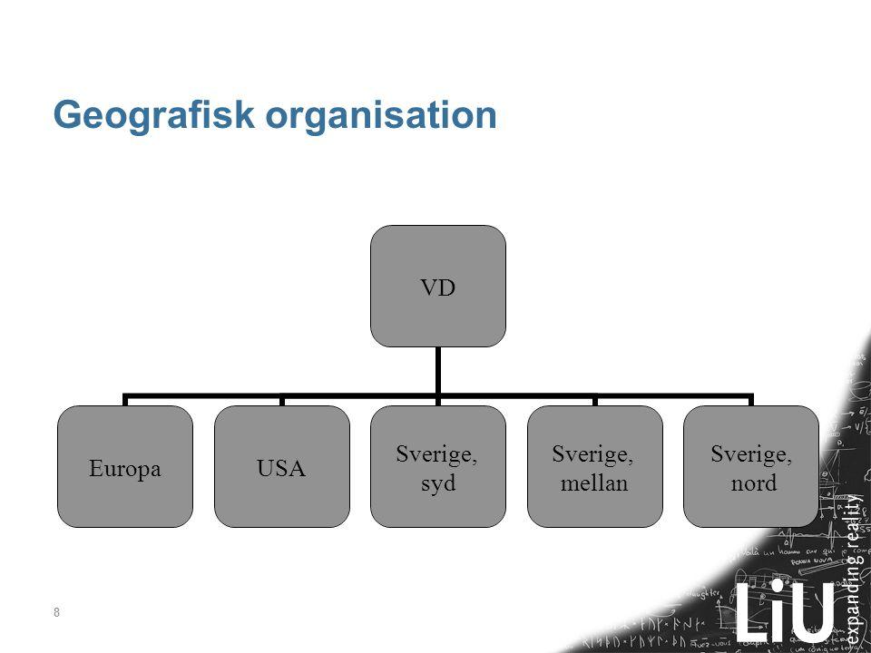 Geografisk organisation