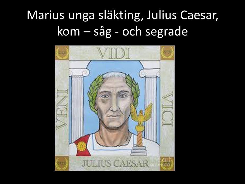 Marius unga släkting, Julius Caesar, kom – såg - och segrade