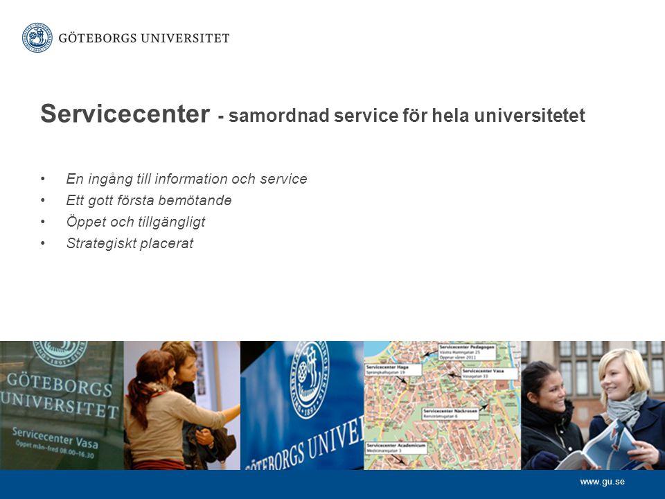 Servicecenter - samordnad service för hela universitetet