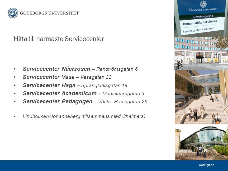 Hitta till närmaste Servicecenter