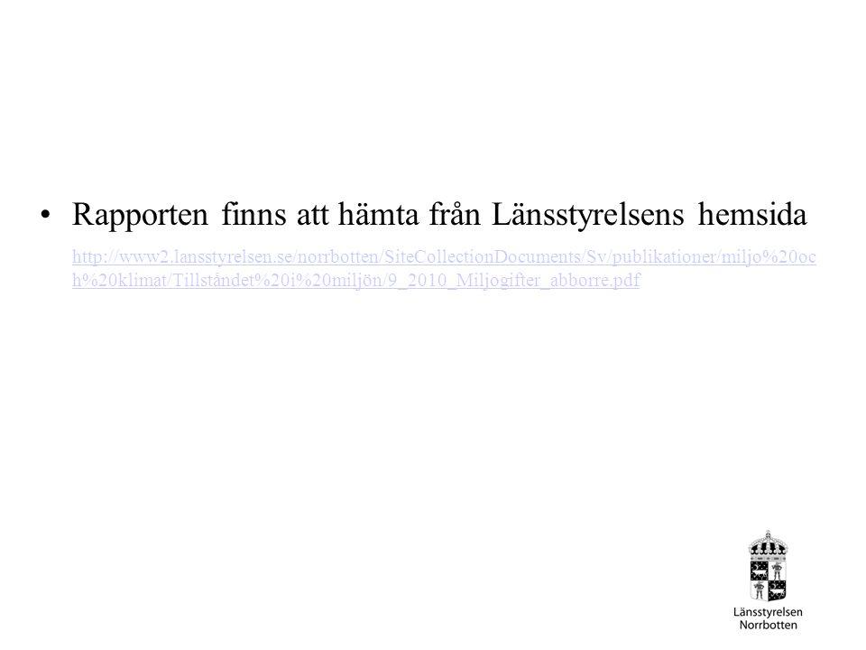 Rapporten finns att hämta från Länsstyrelsens hemsida