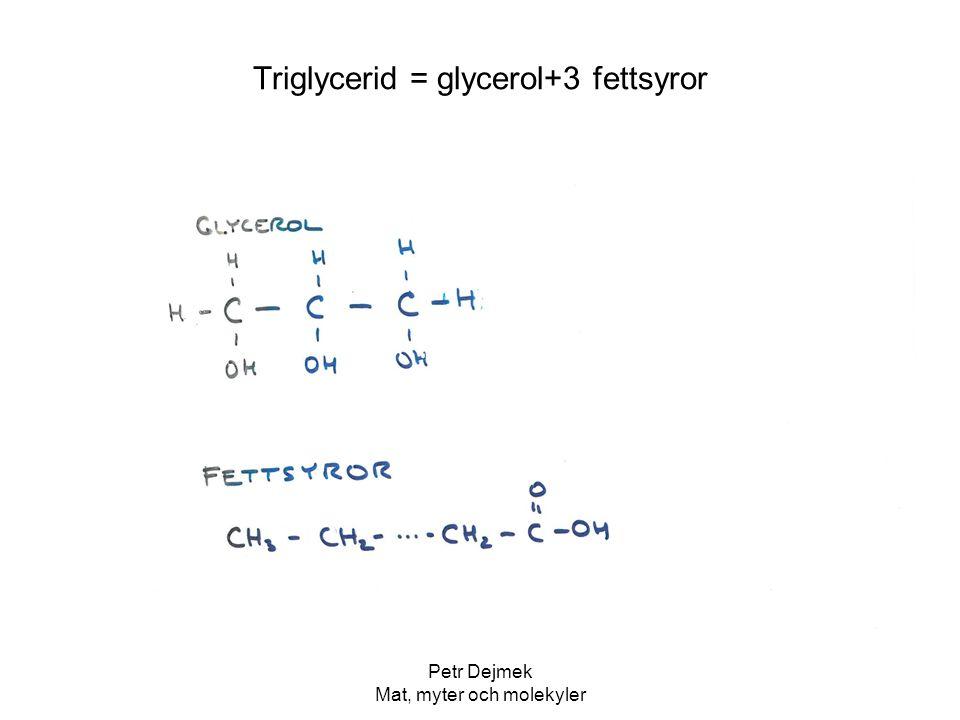 Triglycerid = glycerol+3 fettsyror