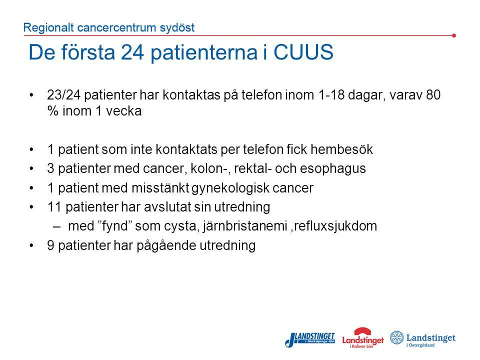 De första 24 patienterna i CUUS