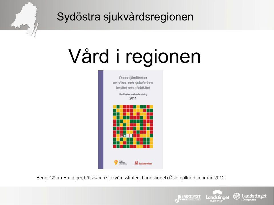 Vård i regionen Sydöstra sjukvårdsregionen