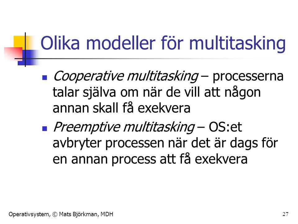 Olika modeller för multitasking