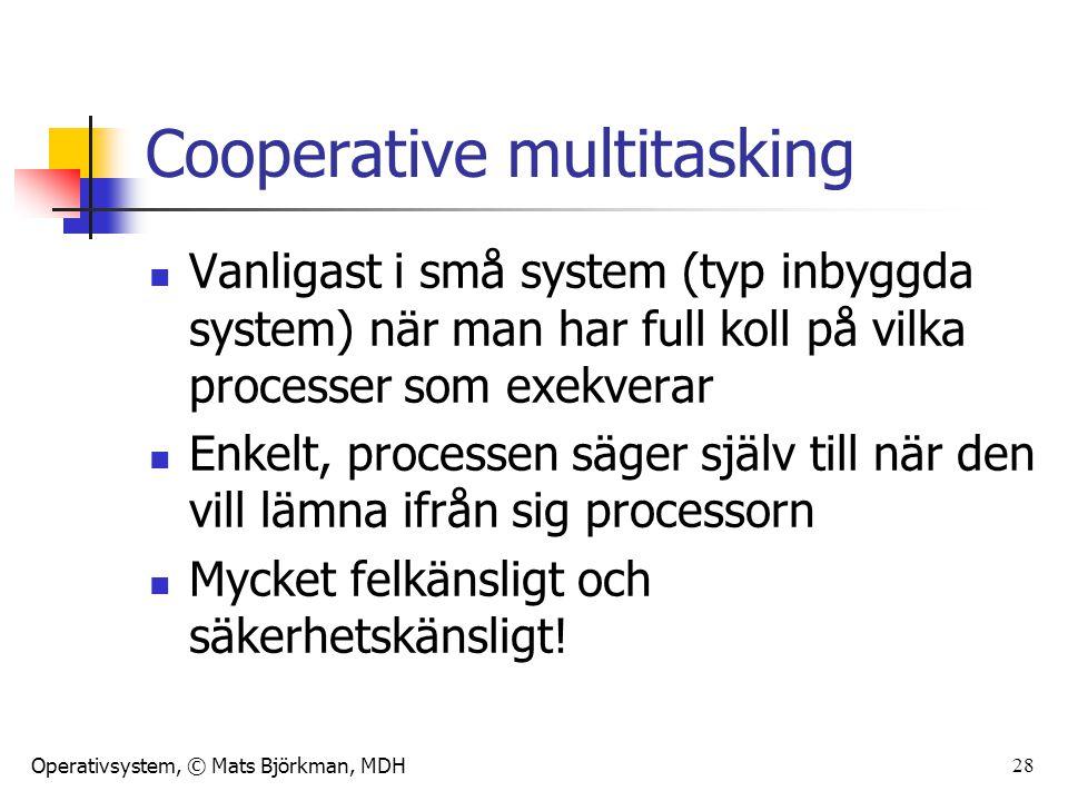 Cooperative multitasking