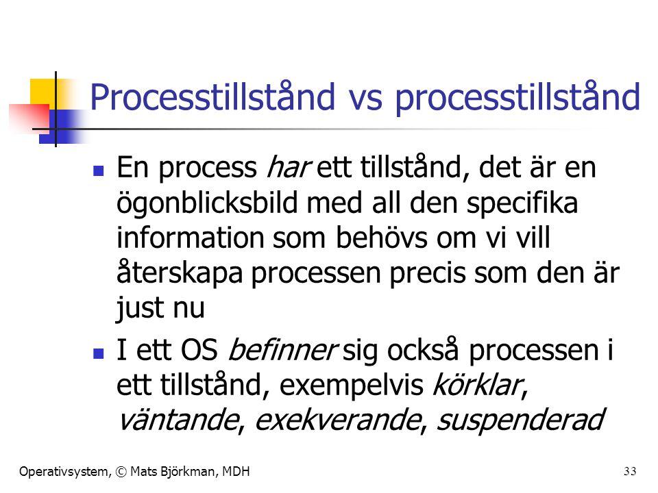 Processtillstånd vs processtillstånd