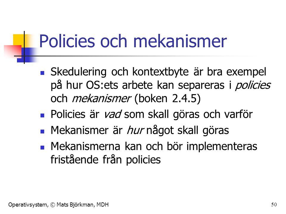 Policies och mekanismer