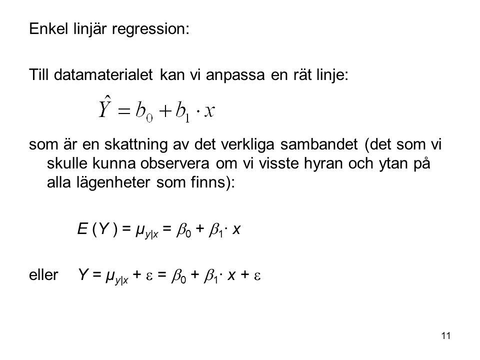 Enkel linjär regression: