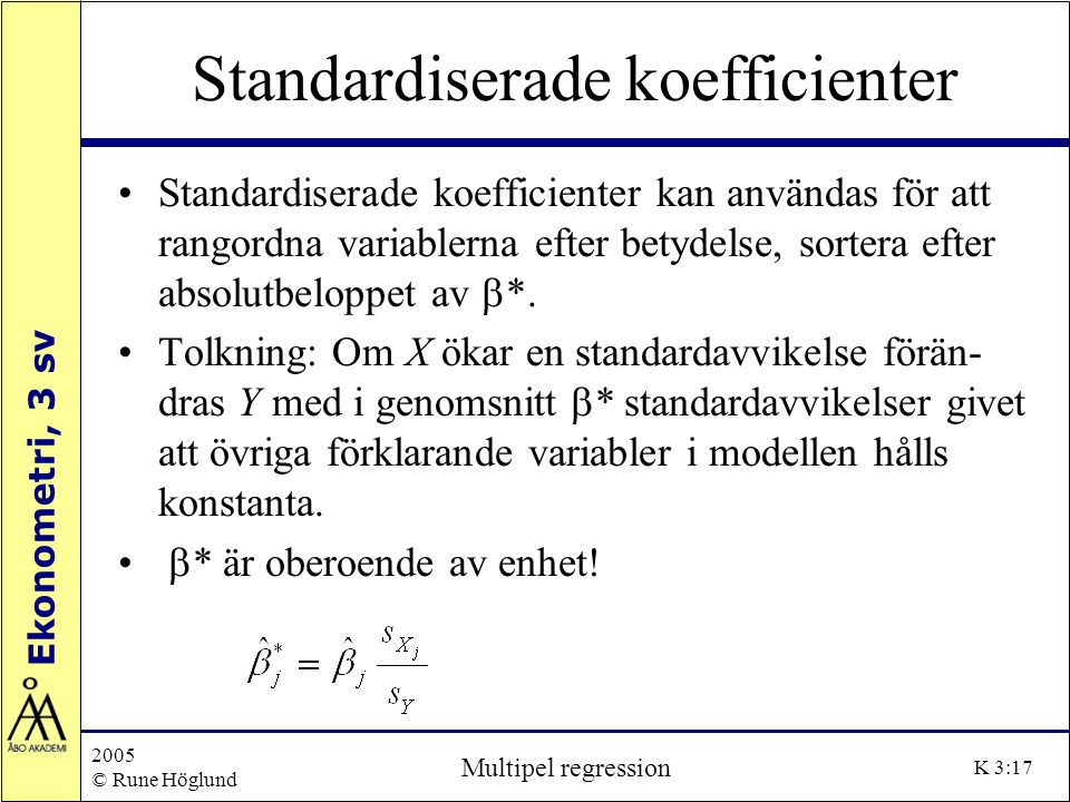 Standardiserade koefficienter